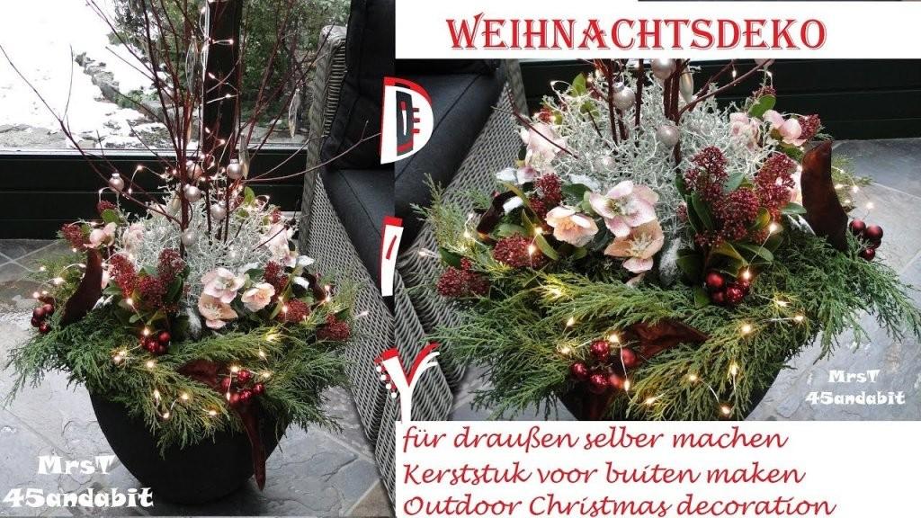 Diy Weihnachtsdeko Selbermachen Für Außen I Stacheldrahtpflanze I von Weihnachtsdeko Für Draussen Selber Basteln Photo