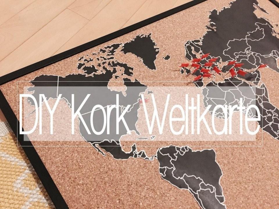 Diy Weltkarte Auf Kork  Die Pinnwand Für Fernwehsüchtige  Diy von Weltkarte Pinnwand Selber Machen Photo