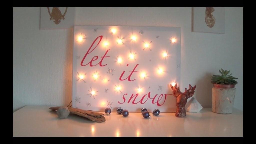 Diy Winter Room Decor Ein Bild Für Dein Zimmer  Youtube von Led Leinwandbild Selber Machen Photo