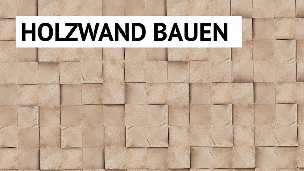 Diywandgestaltung Holzwand Bauen von Holzwand Wohnzimmer Selber Bauen Bild