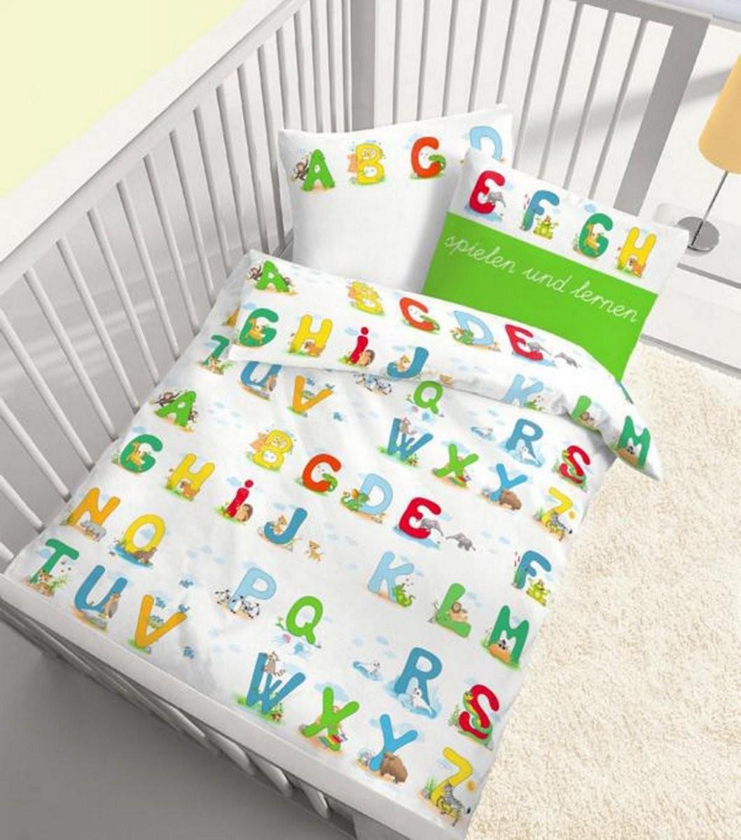 Dobnig Ido Baby Biber Bettwäsche Abc Lernen Weiß Bunt 100 X 135 + 40 von Bettwäsche 100X135 Biber Bild