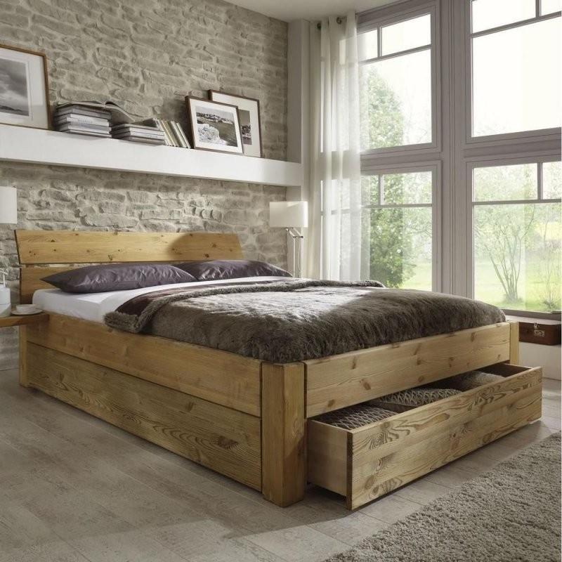 Doppelbett Bett Gestell Mit Schubladen 180X200 Kiefer Massiv Holz von Doppelbett Kiefer Massiv 180X200 Bild