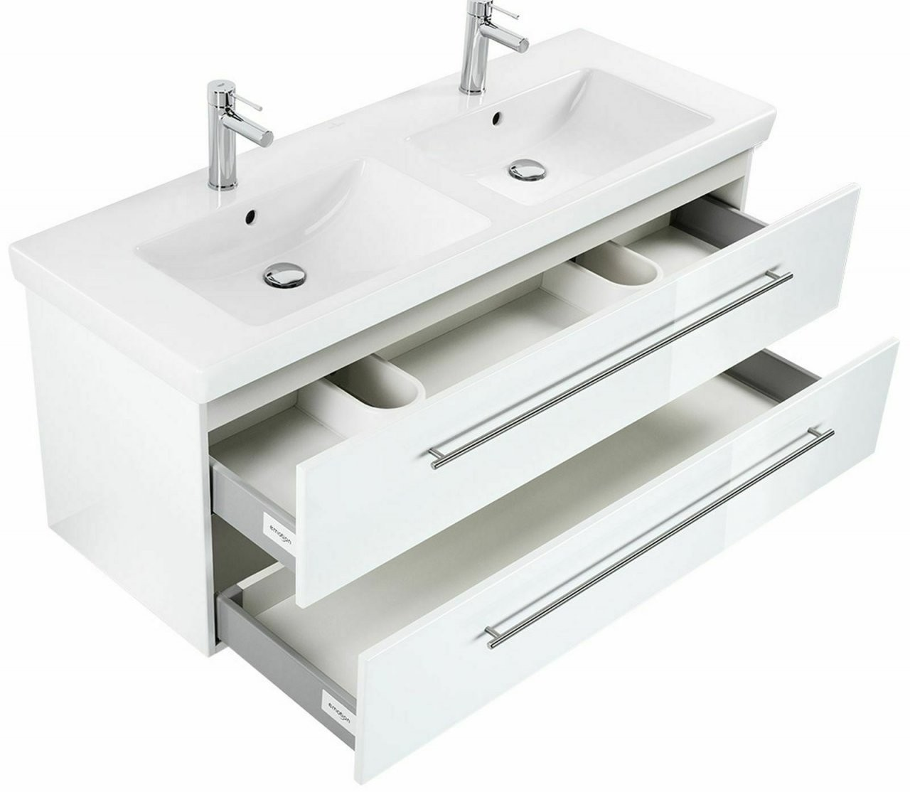 Doppelwaschtisch Mit Unterschrank 130 Cm Villeroy  Boch von Doppelwaschtisch Villeroy Und Boch Bild