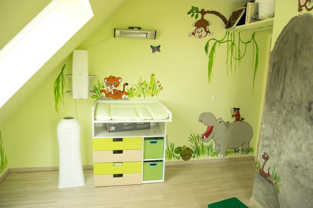 Dschungelkinderzimmer Diy  Mission Wohn(T)Raum von Wandgestaltung Kinderzimmer Selber Machen Bild