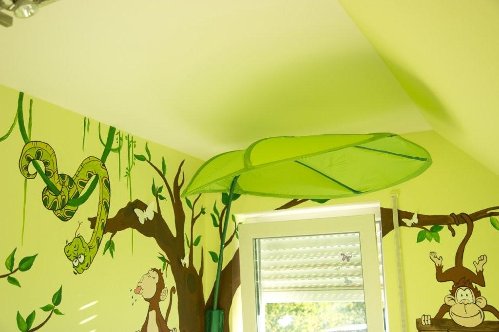 Dschungelkinderzimmer Diy  Mission Wohn(T)Raum von Wandgestaltung Kinderzimmer Selber Machen Photo