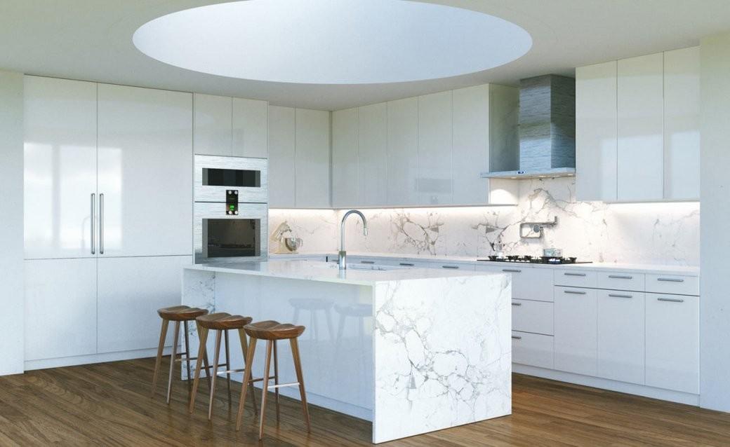 Dunkel Oder Hell  Welche Arbeitsplatte Passt Zu Meiner Küche von Weiße Küche Mit Weißer Arbeitsplatte Bild