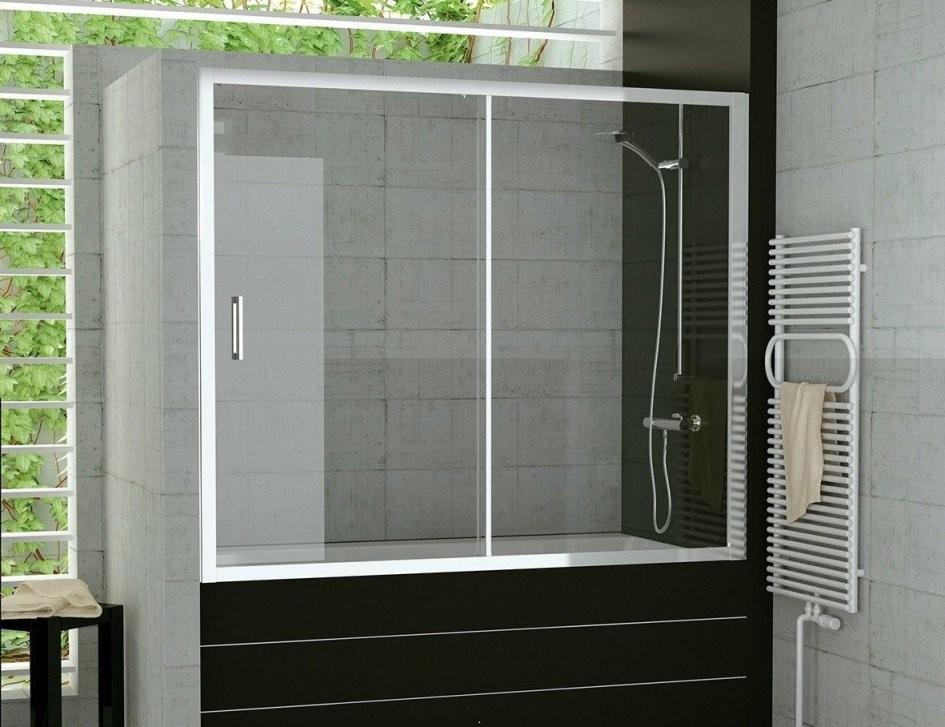 Duschabtrennung Badewanne Höhe 120  Badezimmer Kreativ Gestalten von Duschwand Glas Für Badewanne Bild