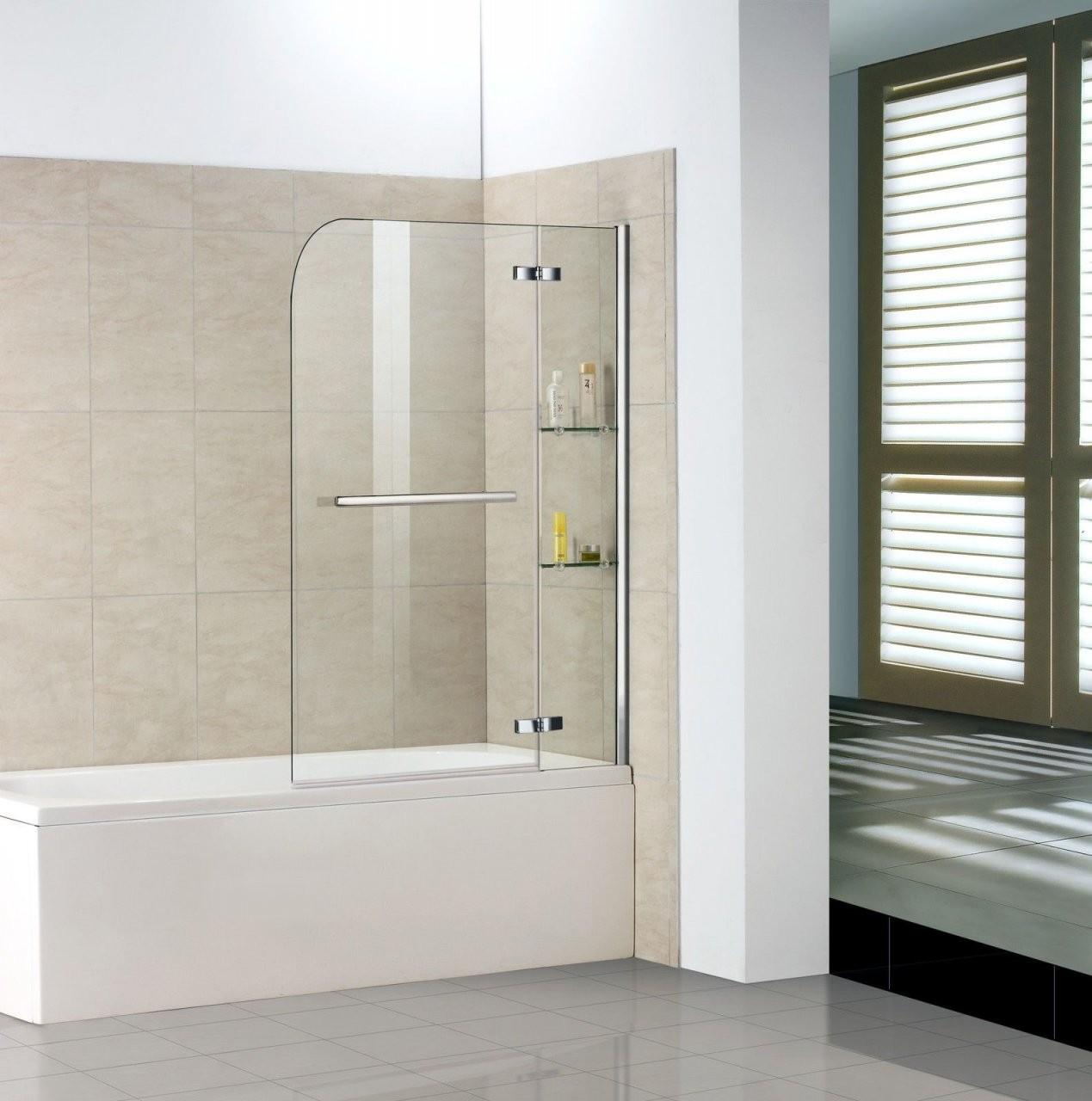 Duschabtrennung Für Badewanne Selber Bauen  Badezimmer Kreativ von Duschwand Glas Für Badewanne Bild