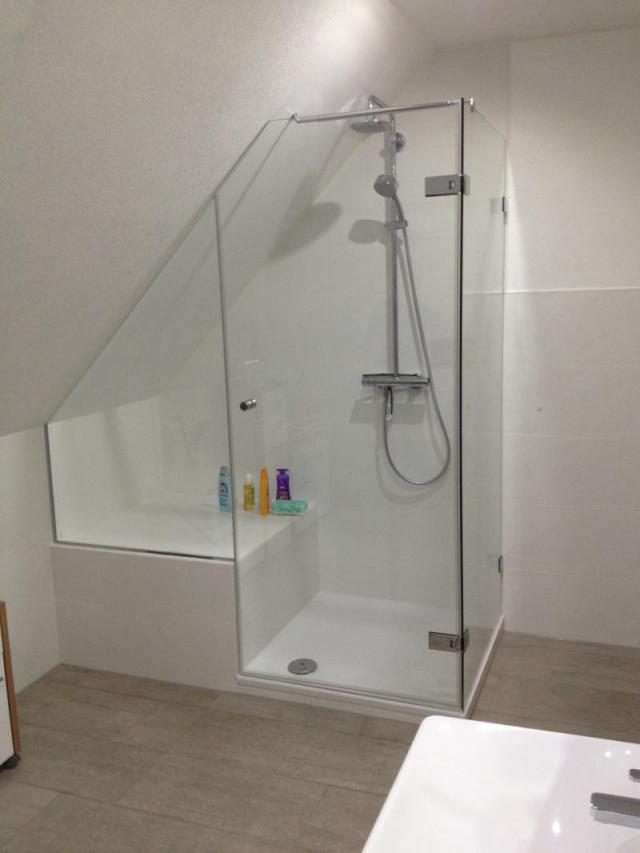 Duschabtrennung In Dachschräge  Glas  Spiegelcenter von Dusche In Der Dachschräge Photo