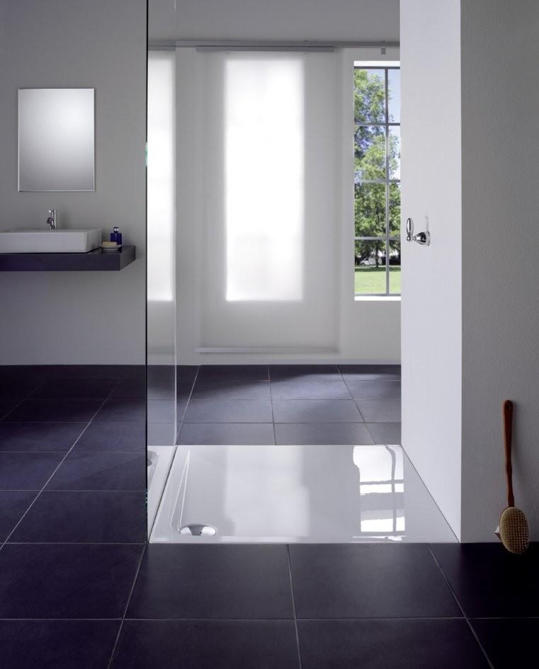 Dusche Ohne Fliesen Vorteile  Varianten von Dusche Wandverkleidung Ohne Fugen Bild