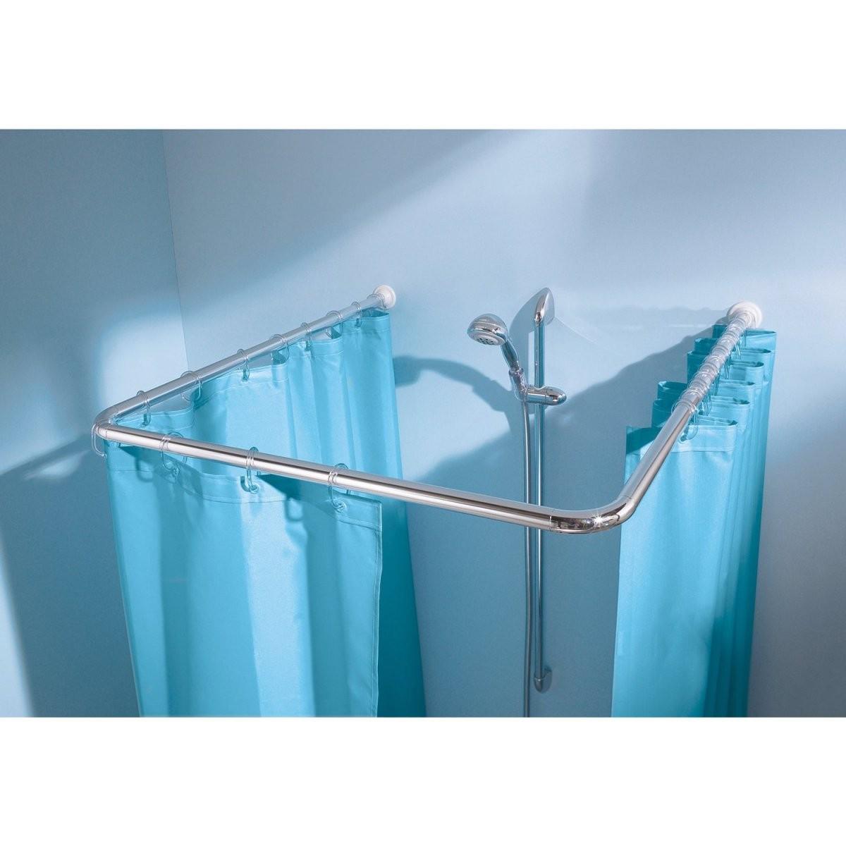 Duschstange Online Kaufen Bei Obi von Duschvorhang Mit Stange Für Badewanne Bild