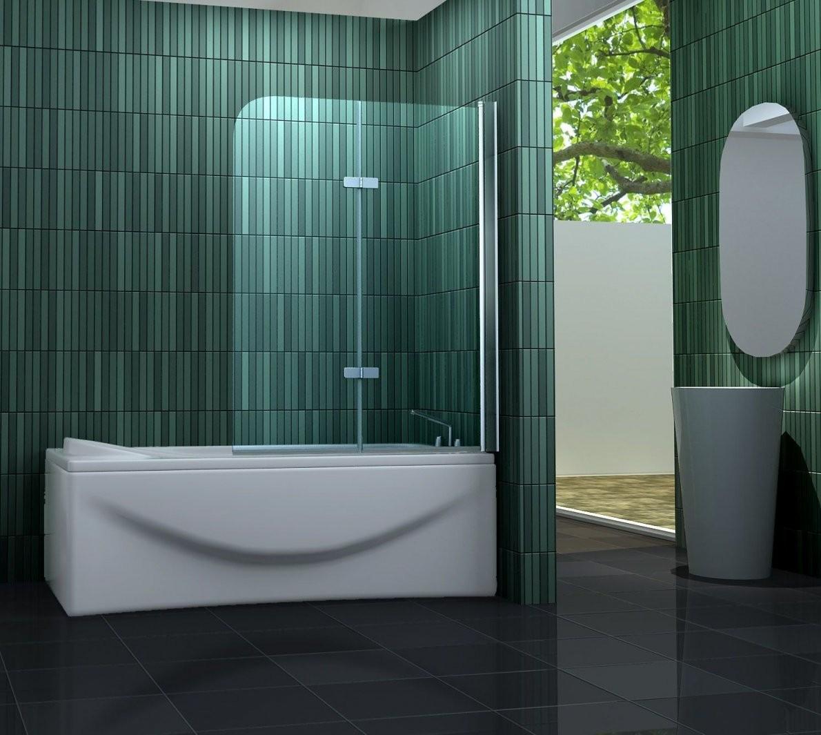 Duschtrennwand Two 100 X 140 Cm (Badewanne) von Duschwand Glas Für Badewanne Photo