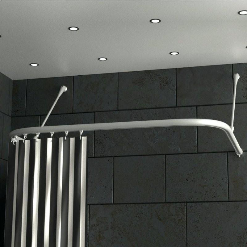 Duschvorhangstange Badewanne U Form Duschvorhang Badewanne L Form von Duschvorhangstange Badewanne L Form Bild