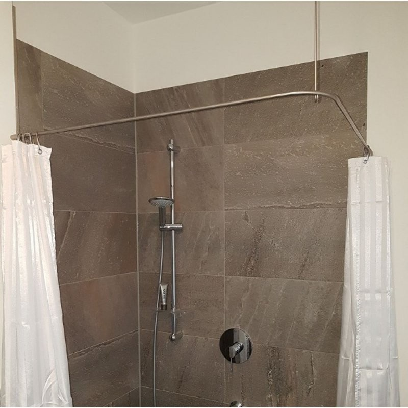 Duschvorhangstange Edelstahl 10 Mm Lform Von Burschberg Für von Duschvorhangstange Badewanne L Form Photo