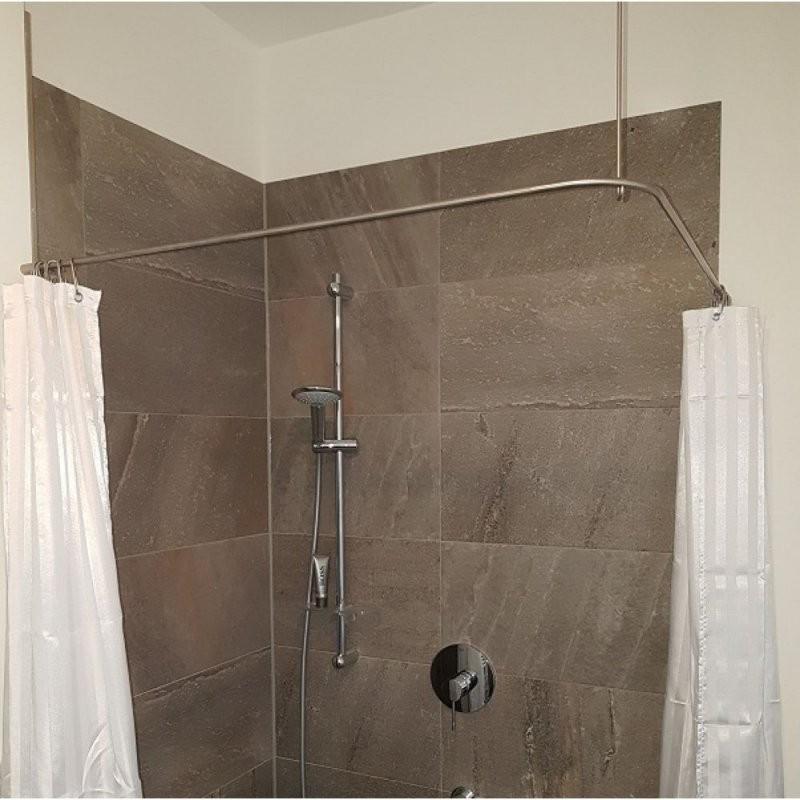 Duschvorhangstange Edelstahl 10 Mm Lform Von Burschberg Für von Duschvorhangstange L Form Badewanne Photo