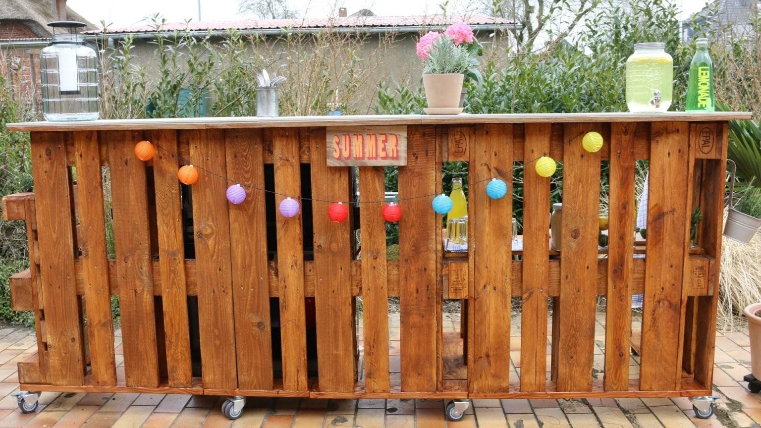 ᐅ Bar Aus Paletten Selber Bauen  Kaufen  Palettenbar von Theke Aus Europaletten Anleitung Bild