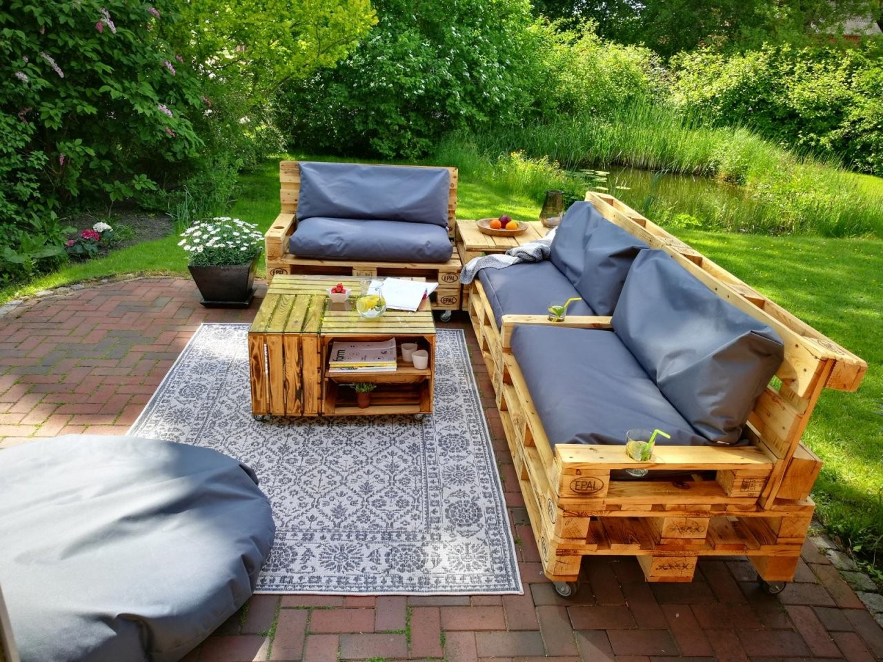 ᐅ Gartenmöbel Aus Paletten ᐅ Palettenmöbel Garten  Diy Ideen  Shop von Lounge Möbel Selber Bauen Photo