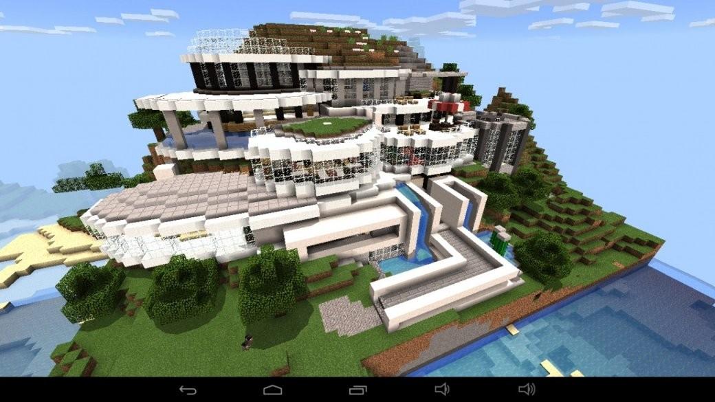 ᐅ Großes Abstraktes Haus Am Berg In Minecraft Bauen  Minecraft von Coole Minecraft Häuser Zum Nachbauen Photo