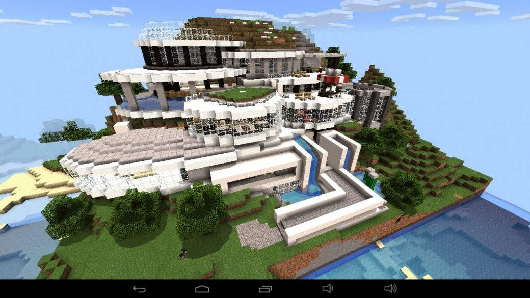 ᐅ Großes Abstraktes Haus Am Berg In Minecraft Bauen  Minecraft von Minecraft Baupläne Zum Nachbauen Photo