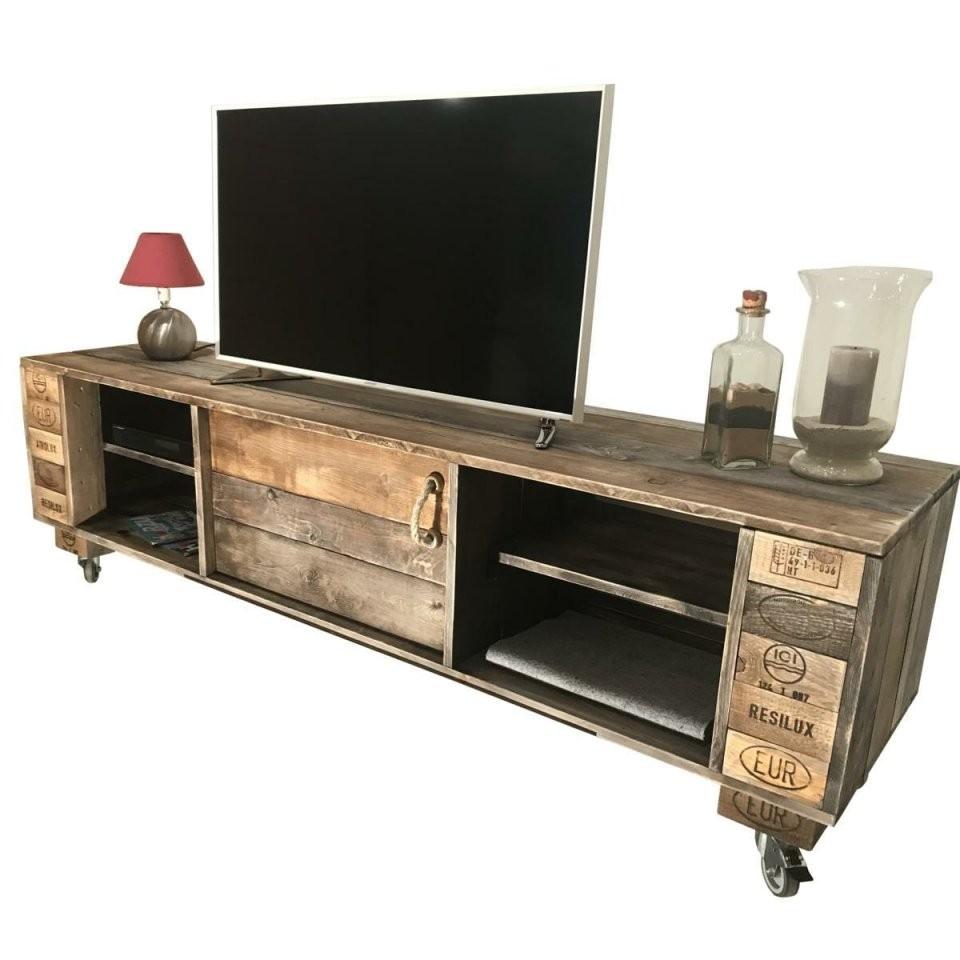 ᐅᐅ Sideboard – Tv Schrank – Aus Paletten  Palettenmöbel Shop von Tv Möbel Aus Europaletten Bild