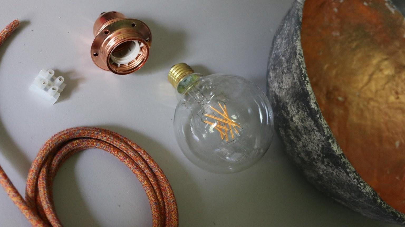 ᐅᐅ Vintage Lampen Selber Bauen  Shop  Anleitungen  Diy Ideen von Lampenschirm Selber Machen Material Bild