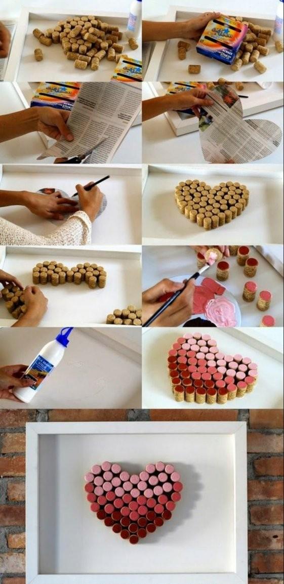 ▷ 1001+ Ideen Zum Thema Basteln Mit Weinkorken  Dekorbombák von Wanddeko Ideen Mit Farbe Photo