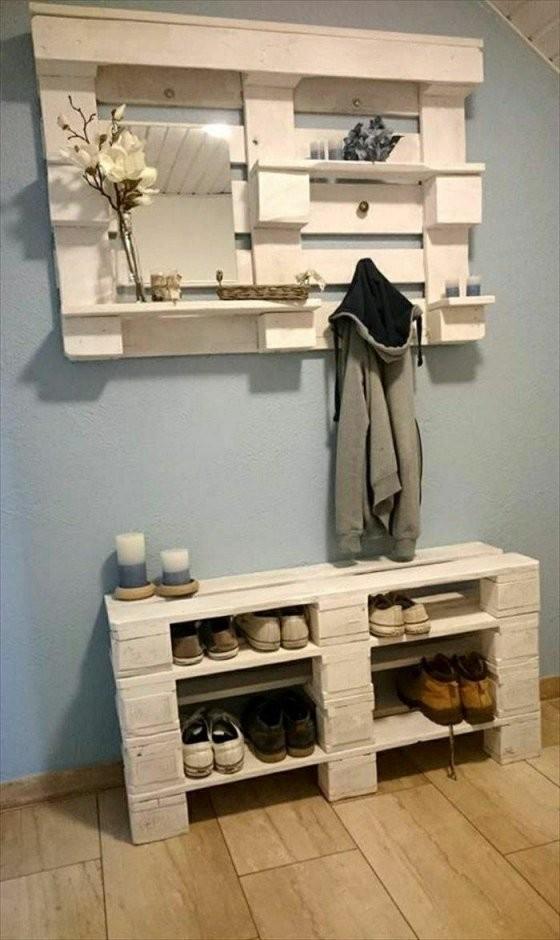 ▷ 1001+ Originelle Palettenmöbel Ideen Zum Selberbauen  Beautiful von Garderobe Aus Paletten Selber Bauen Bild