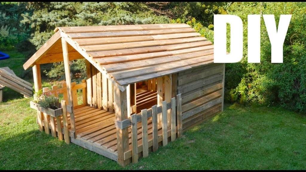 ☆ Spielhaus  Gartenhaus Für Kinder ☆ Selber Bauen Aus Paletten von Blockhaus Selber Bauen Kosten Bild