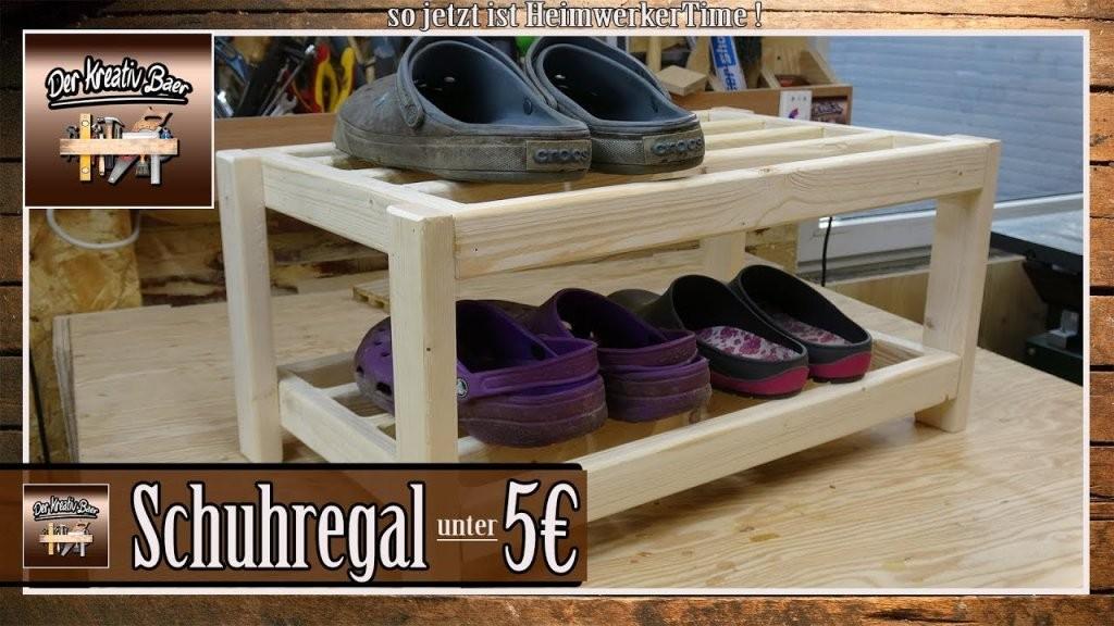 ⚠ Bauanleitung  Schuhregal Selber Bauen Holz  Youtube von Schuhregal Selber Bauen Günstig Bild