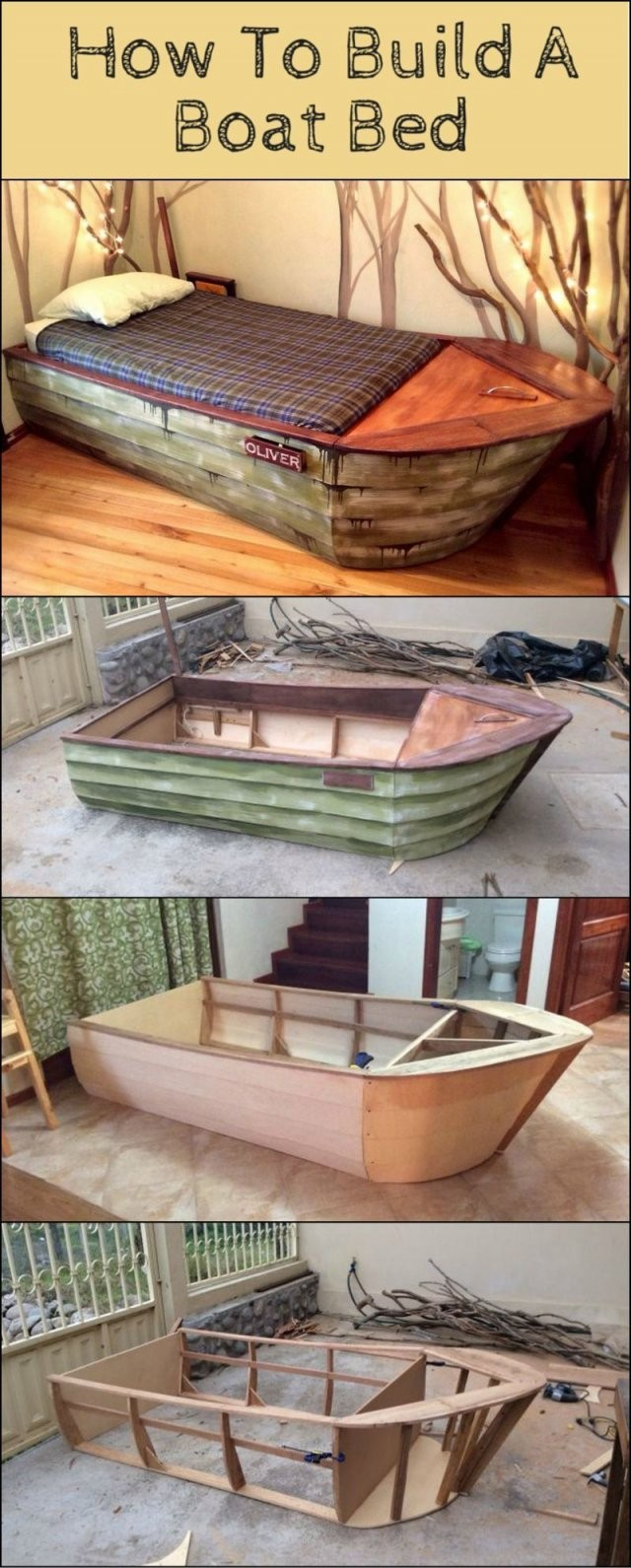 ⛵ Piratenbett Selber Bauen  Anleitung Piraten Bett  Piratenzimmer von Boot Regal Selber Bauen Photo