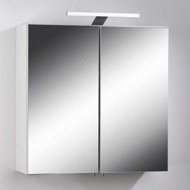 ✅ Bad Spiegelschrank Mit Led Leuchte Weiß ✅ — Exklusive Möbel Kaufen von Bad Spiegelschrank Led Leuchte Photo