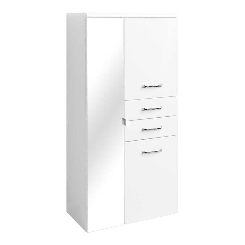 ✅ Badezimmer Hochschrank Mit Spiegel Hochglanz Weiß ✅ — Exklusive von Badezimmer Hochschrank Weiß Hochglanz Bild
