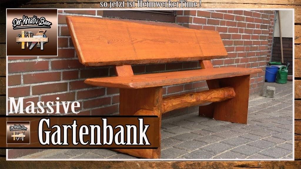✅ Massive Gartenbank Aus Holz Selber Bauen  Selber Machen  Youtube von Gartenbank Holz Selber Bauen Photo