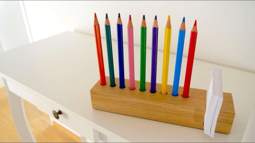 ✅ Wood Diy Schreibtisch Organizer Selber Machen  Tolle von Stiftehalter Holz Selber Bauen Photo