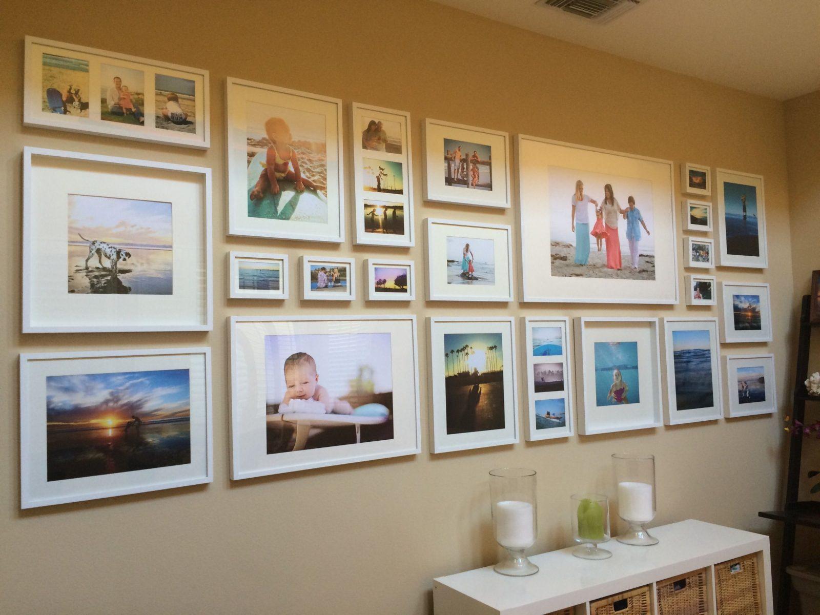 Easy Diy Tutorial – Gallery Wall With Ikea Ribba Frames von Ikea Bilderrahmen Ribba Aufhängen Bild