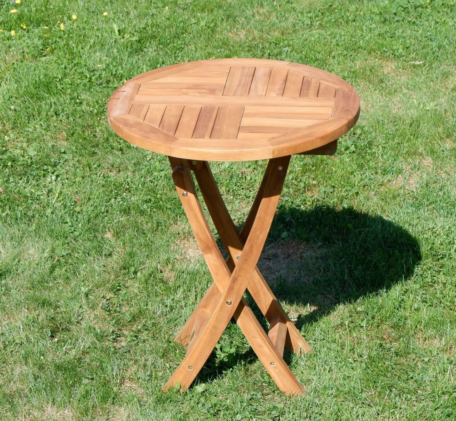 Echt Teak Gartentisch Klapptisch Holztisch Gartentisch Tisch Rund von Gartentisch Rund 60 Cm Bild