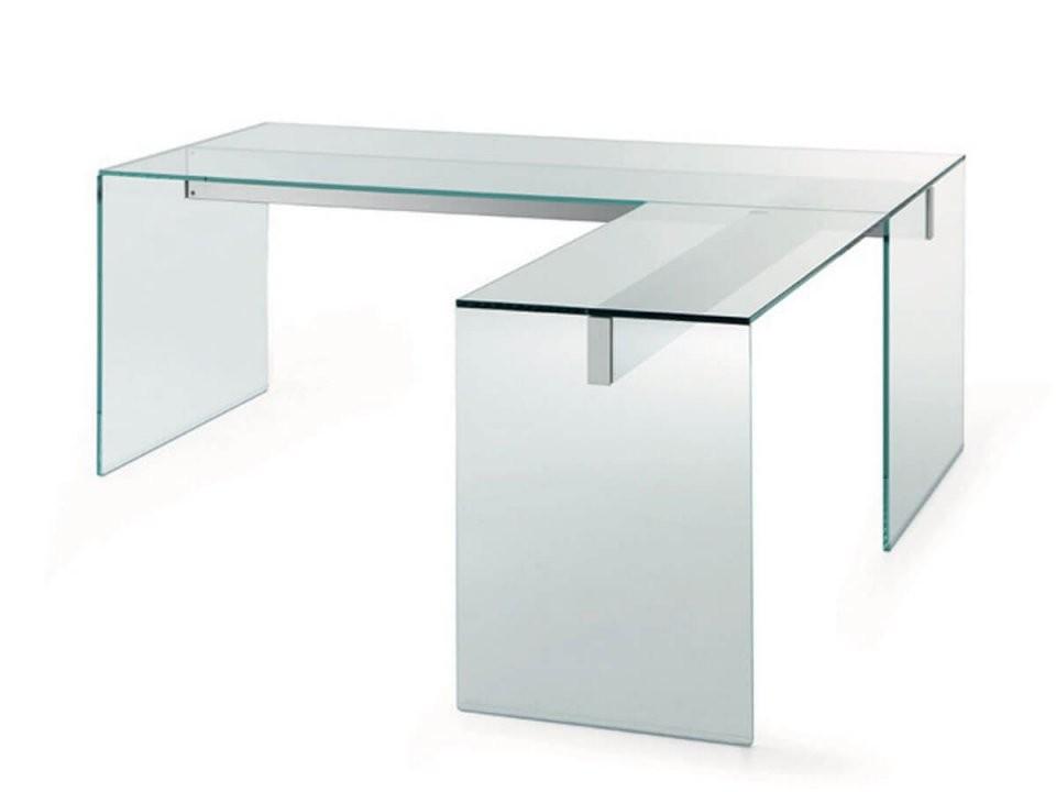 Eckschreibtisch Aus Glas Air L Von Gallottiradice Online Kaufen von Schreibtisch In L Form Photo