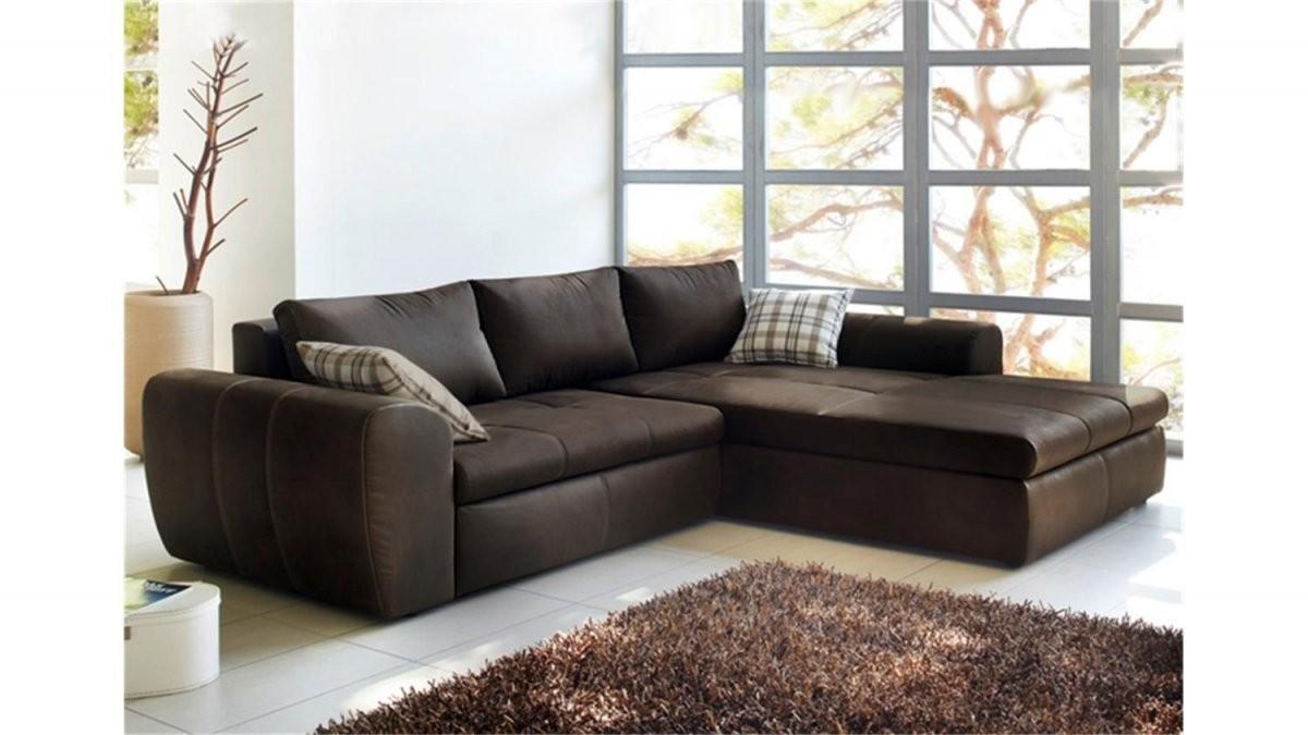 Ecksofa Wohnlandschaft Cascada Antik Braun Mit Bettfunktion  Sofa von Günstige Wohnlandschaft Mit Bettfunktion Photo