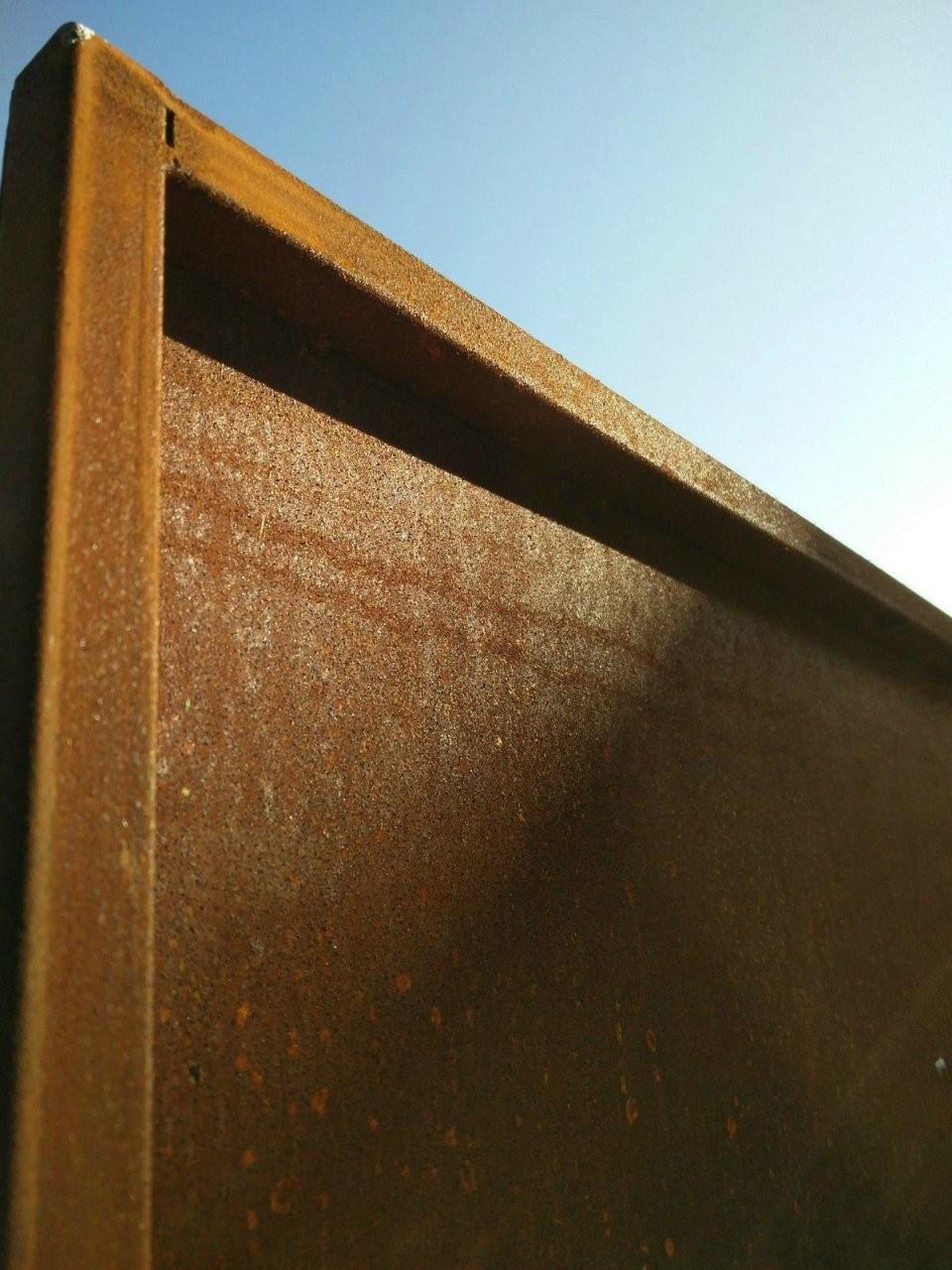 Edelrost Garten Sichtschutz Rost Sichtschutzwand Gartenzubehör von Sichtschutz Garten Metall Rost Bild