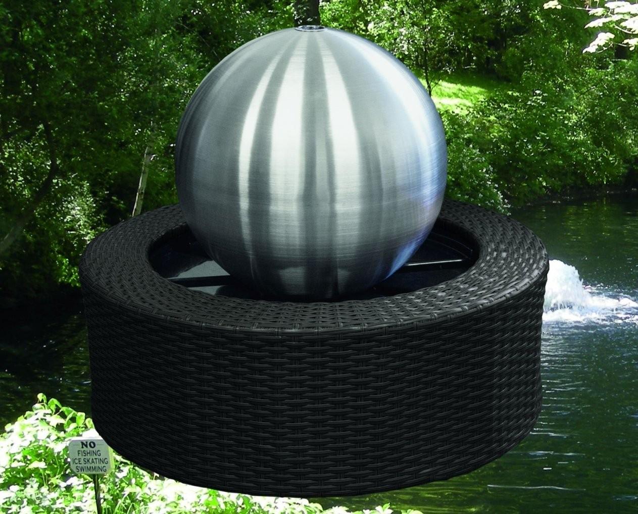 Edelstahl Brunnen Mit Ledbeleuchtung  Callidus Baumarkt von Gartenbrunnen Edelstahl Mit Beleuchtung Bild
