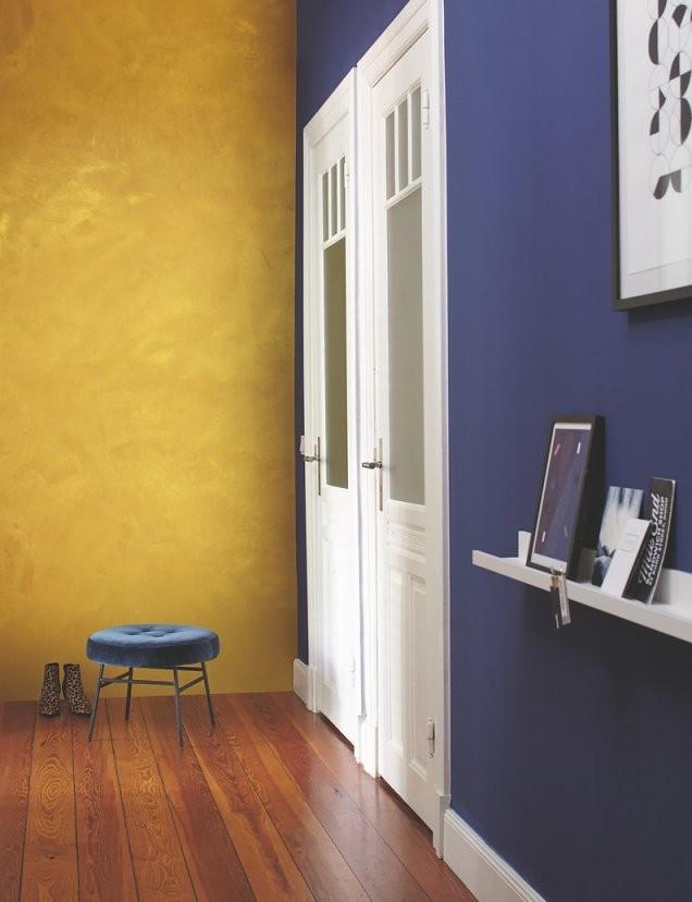 Effektfarbe Kreativ Wandfarbe Gold Alpina Farbrezepte Goldeffekt von Wandfarbe Gold Farbe Wandgestaltung Photo