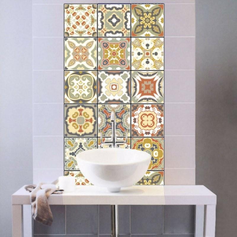 Eg  Pvc Wasserfest Selbstklebend Wand Fliesen Aufkleber Küche von Selbstklebende Pvc Fliesen Für Die Wand Photo