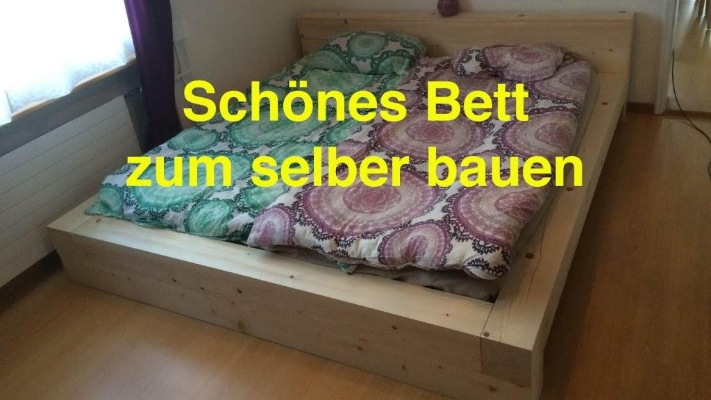 Ein Bett Zum Selber Bauen Lunchvegaz  Youtube von Bett Aus Holz Bauen Bild