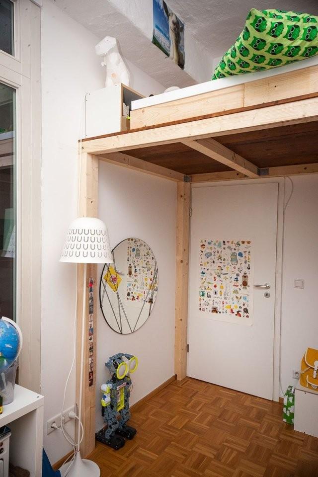 Ein Hochbett Selber Bauen  Diy Anleitung  Hochbett  Hochbett von Hochbett Für Kinder Selber Bauen Bild