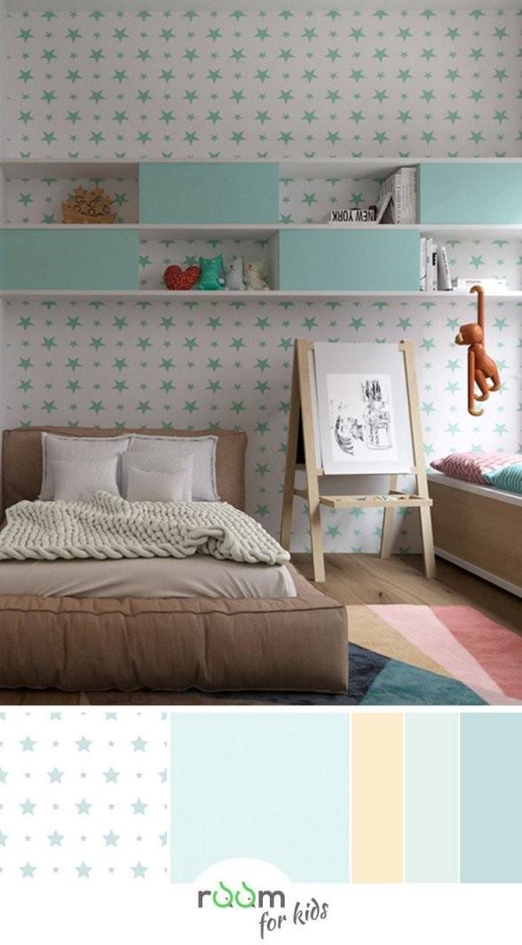 Ein Jugendzimmer Für Mädchen In Frischen Farben Gestaltet In 2019 von Tapeten Für Jugendzimmer Mädchen Photo