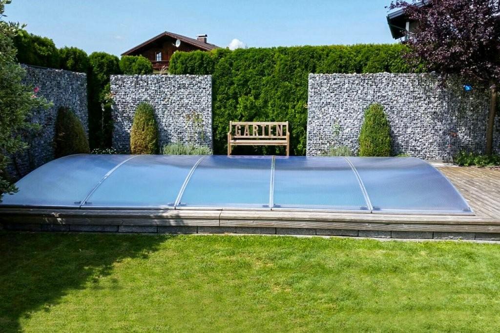 Ein Neues Konzept Zur Abdeckung Von Pools  Flexiroof Poolabdeckung von Pool Winterabdeckung Selber Bauen Photo