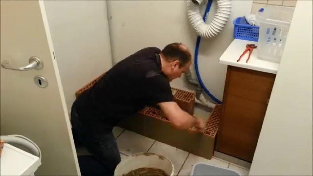 Ein Sockel Podest Für Eine Waschmaschine Und Einen Trockner Teil1 von Waschmaschinen Podest Selber Bauen Holz Bild