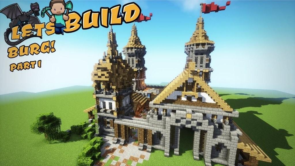 Eine Burg Bauen  Minecraft Tutorial  Part 1  Youtube von Minecraft Baupläne Zum Nachbauen Bild