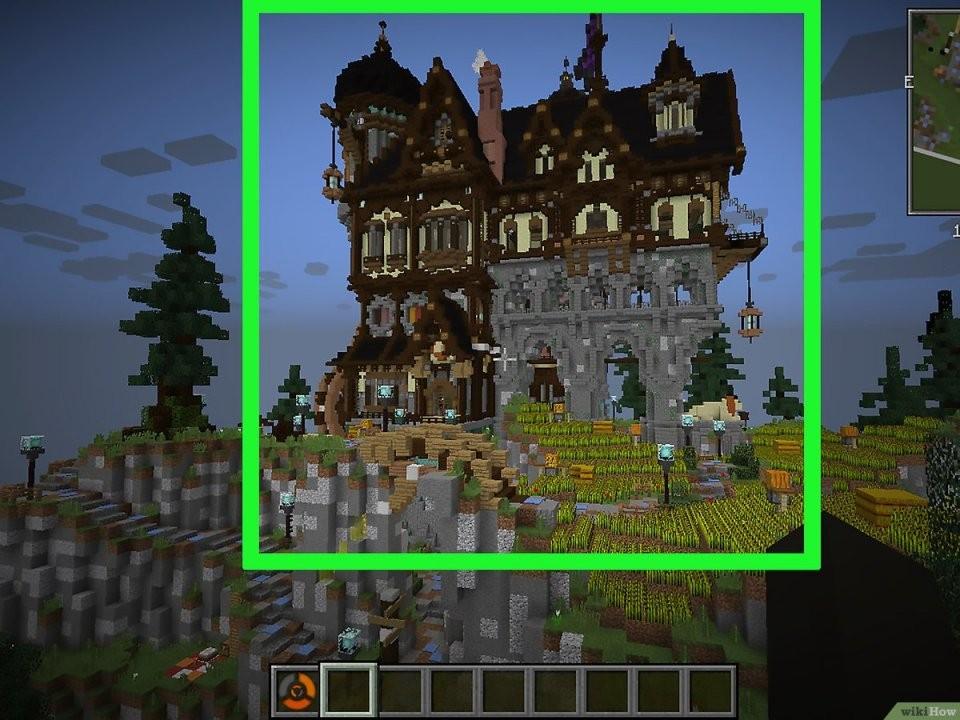 Eine Burg In Minecraft Bauen – Wikihow von Minecraft Baupläne Zum Nachbauen Photo