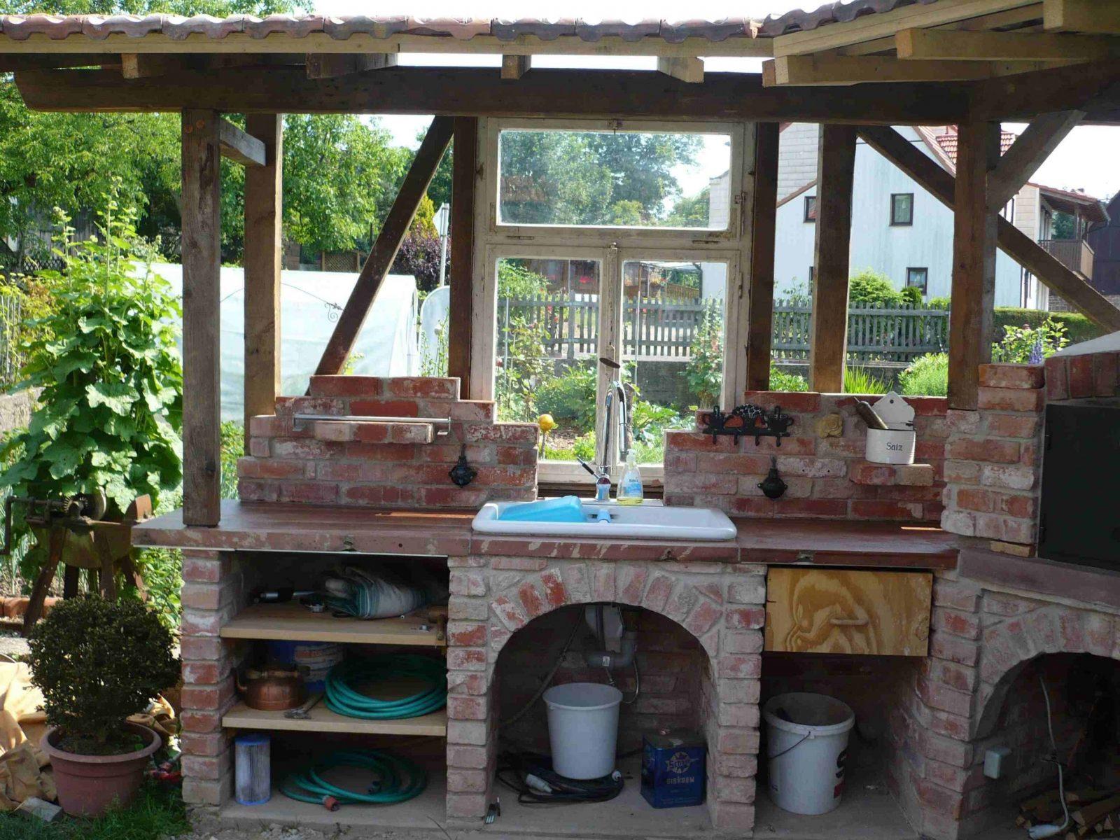 Eine Gemauerte Gartenküche – Mehr Als Nur Ein Grill  Grillfans von Outdoor Küche Selber Bauen Garten Bild